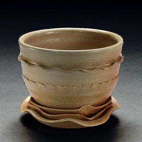 Teabowl, 2004--Ball Clay, salt-fired ^6