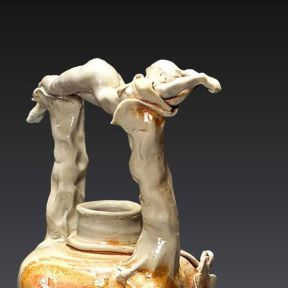 Never Seen by Waking Eyes, 2004--Porcelain, Wood-fired ^10