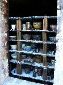 the kiln right before we tore it apart