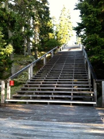 the main staircase at Haystack