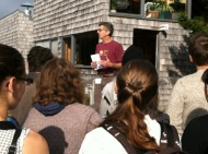 Stuart Kestenbaum, the director of Haystack, gathering us for a nature walk